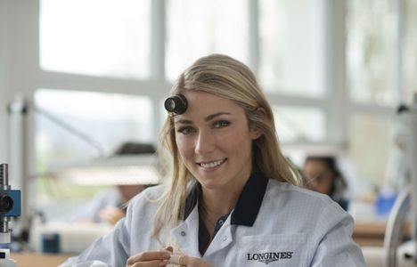 Longines Corporate Event: Longines receives the visit of ski champion and Ambassador of Elegance Mikaela Shiffrin at its headquarters in Saint-Imier