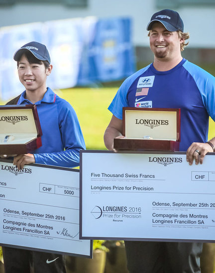 Longines Archery Event: The 2016 Longines Prize for Precision awarded to Brady Ellison and Tan Ya-Ting