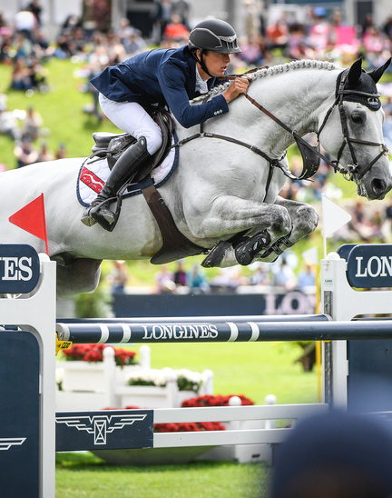 "Bertram Allen (Ireland) is the winner of the ""Longines Grand Prix der Schweiz"" in St. Gallen"