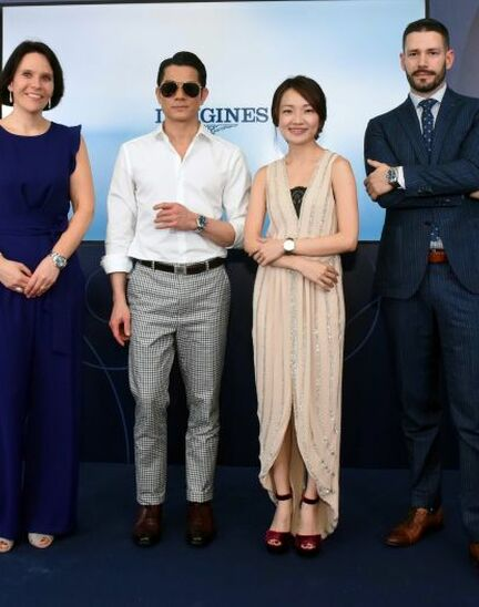 Longines dives into the HydroConquest universe during a special event in Singapore attended by Aaron Kwok