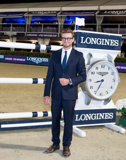 Thrilling sports performances and emotional moments at the Longines FEI Jumping Nations CupTM Final with Longines Ambassador of Elegance Simon Baker