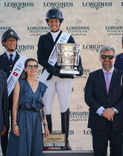 The first Swiss edition of the Longines Masters smiles upon Gudrun Patteet