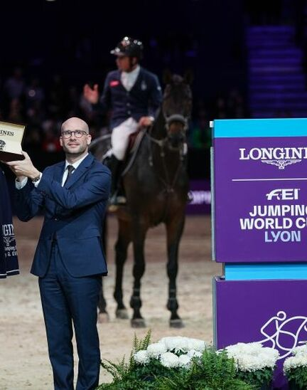 Martin Fuchs and Clooney 51 captured the Longines FEI Jumping World Cup at Longines Equita Lyon, Concours Hippique International