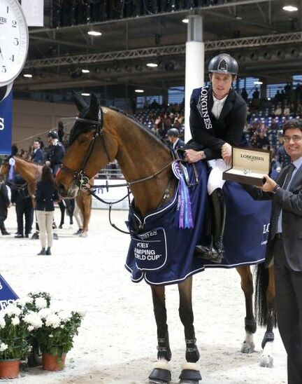 Scott Brash (GB) and Hello M'lady, convincing winners of the Longines FEI Jumping World CupTM Verona