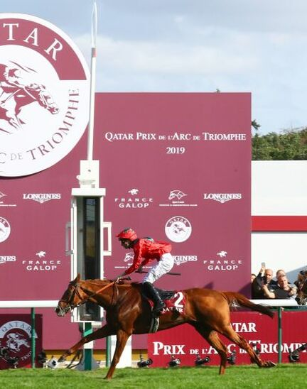 Waldgeist wins the 98th edition of the Qatar Prix de l'Arc de Triomphe