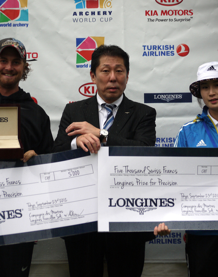 Longines Archery Event: The winners of the 2012 Longines Prize for Precision for archery
