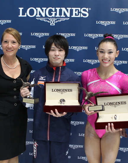 Longines Gymnastics Event: Longines Prize for Elegance awarded to Kyla Ross and Kohei Uchimura at the 44th Artistic Gymnastics World Championships in Antwerp