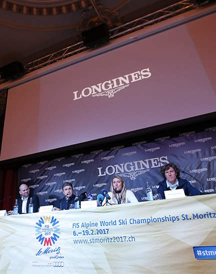 Official launch of the Longines Live Alpine Data system at the FIS Alpine World Ski Championships St. Moritz 2017