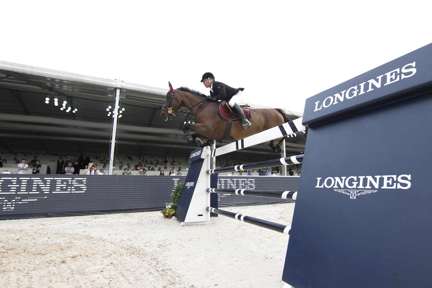 Longines Show Jumping Event: Longines Ambassador of Elegance Eddie Peng at the Longines Global Champions Tour of Shanghai 8