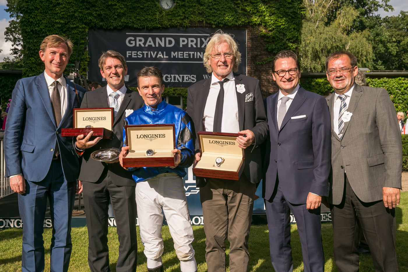 Longines Flat Racing Event: Longines launched its new second screen application during the Longines Grosser Preis von Berlin won by Adrie de Vries riding Dschingis Secret 4