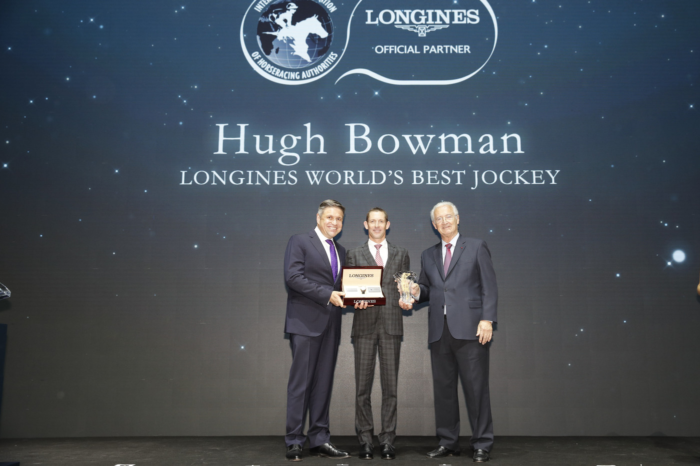 Longines Flat Racing Event: Australian Hugh Bowman receives the 2017 Longines World's Best Jockey Award in Hong Kong 5
