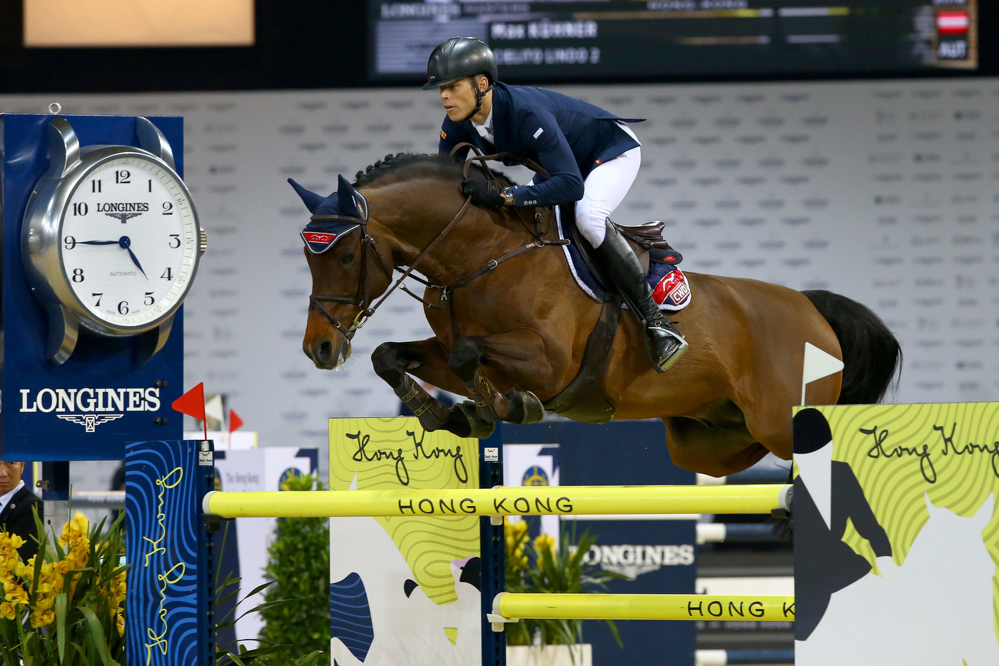 Longines Show Jumping Event: The Longines Masters of Hong Kong: Patrice Delaveau on Aquila HDC takes top class Longines Grand Prix win 3
