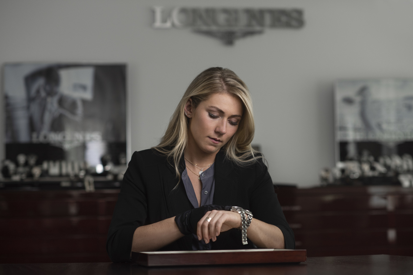 Longines Corporate Event: Longines receives the visit of ski champion and Ambassador of Elegance Mikaela Shiffrin at its headquarters in Saint-Imier 10
