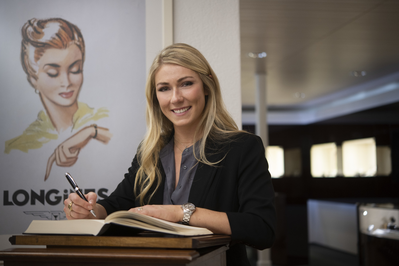 Longines Corporate Event: Longines receives the visit of ski champion and Ambassador of Elegance Mikaela Shiffrin at its headquarters in Saint-Imier 3