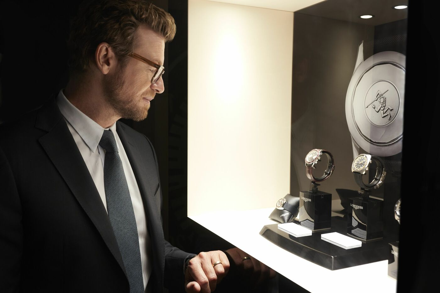 Longines Corporate Event: Simon Baker discovers the Longines universe in Saint-Imier 2