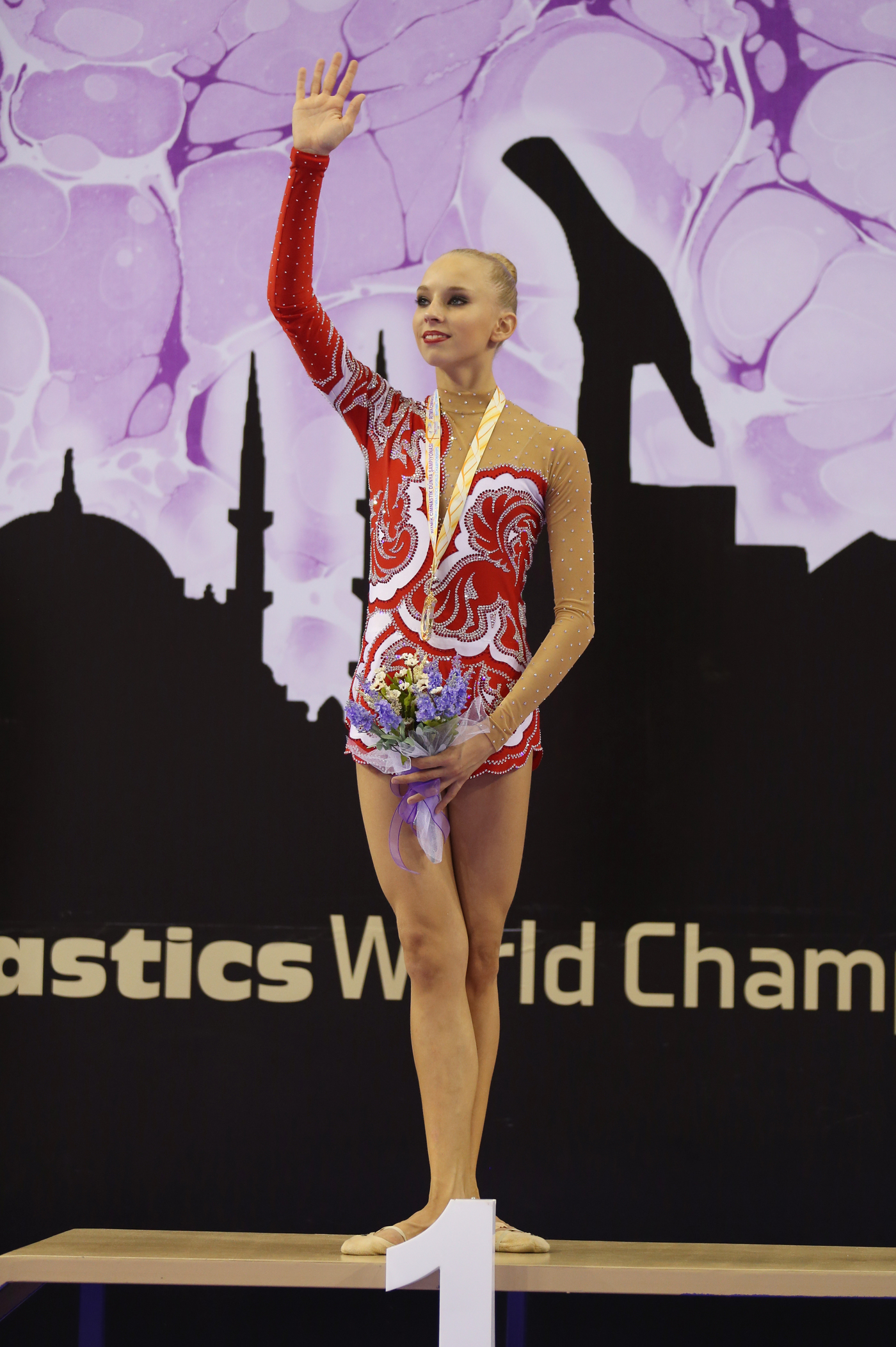 Longines Gymnastics Event: The Longines Prize for Elegance awarded to Yana Kudryavtseva at the 33rd Rhythmic Gymnastics World Championships 2014 in Izmir 4