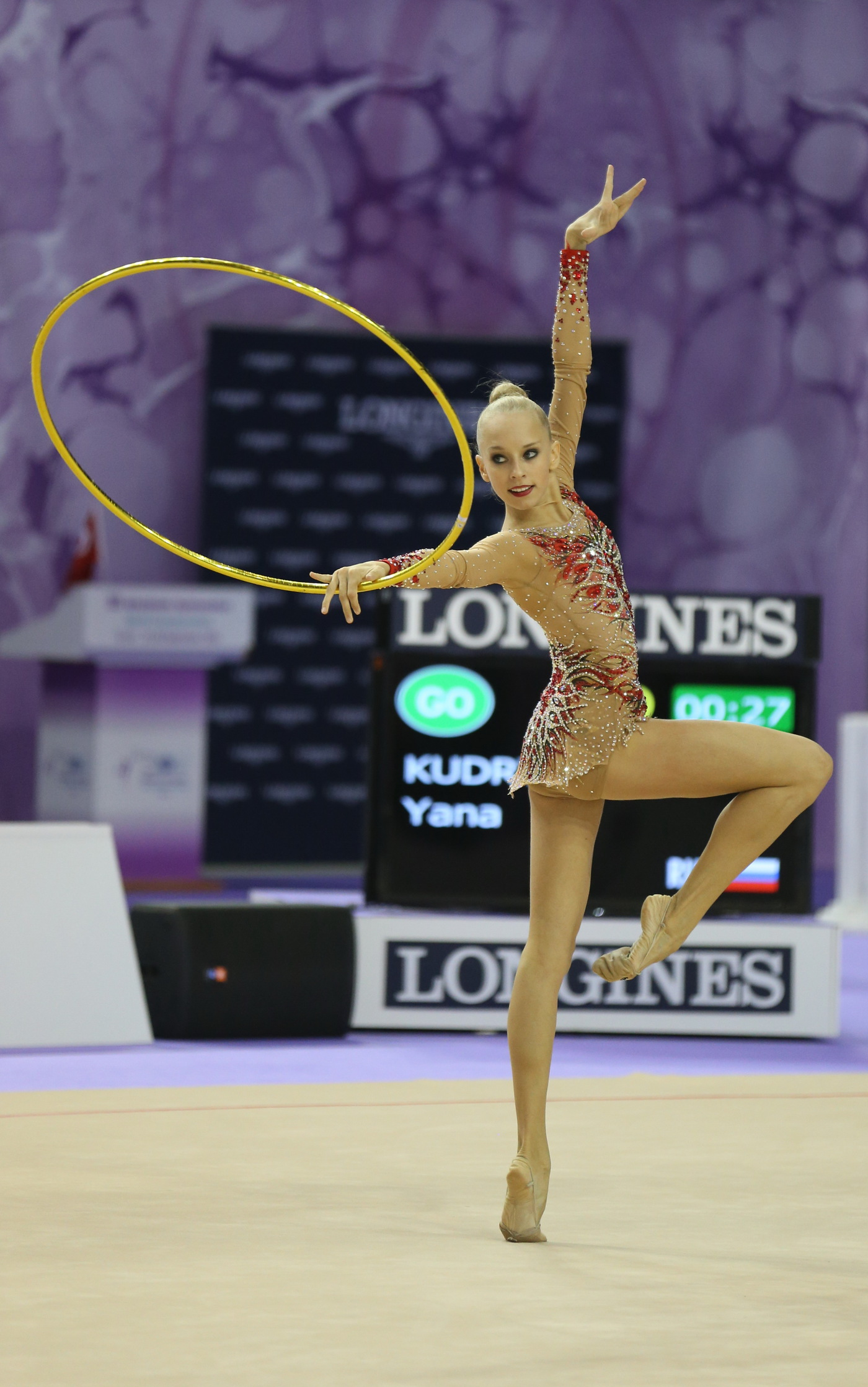 Longines Gymnastics Event: The Longines Prize for Elegance awarded to Yana Kudryavtseva at the 33rd Rhythmic Gymnastics World Championships 2014 in Izmir 7