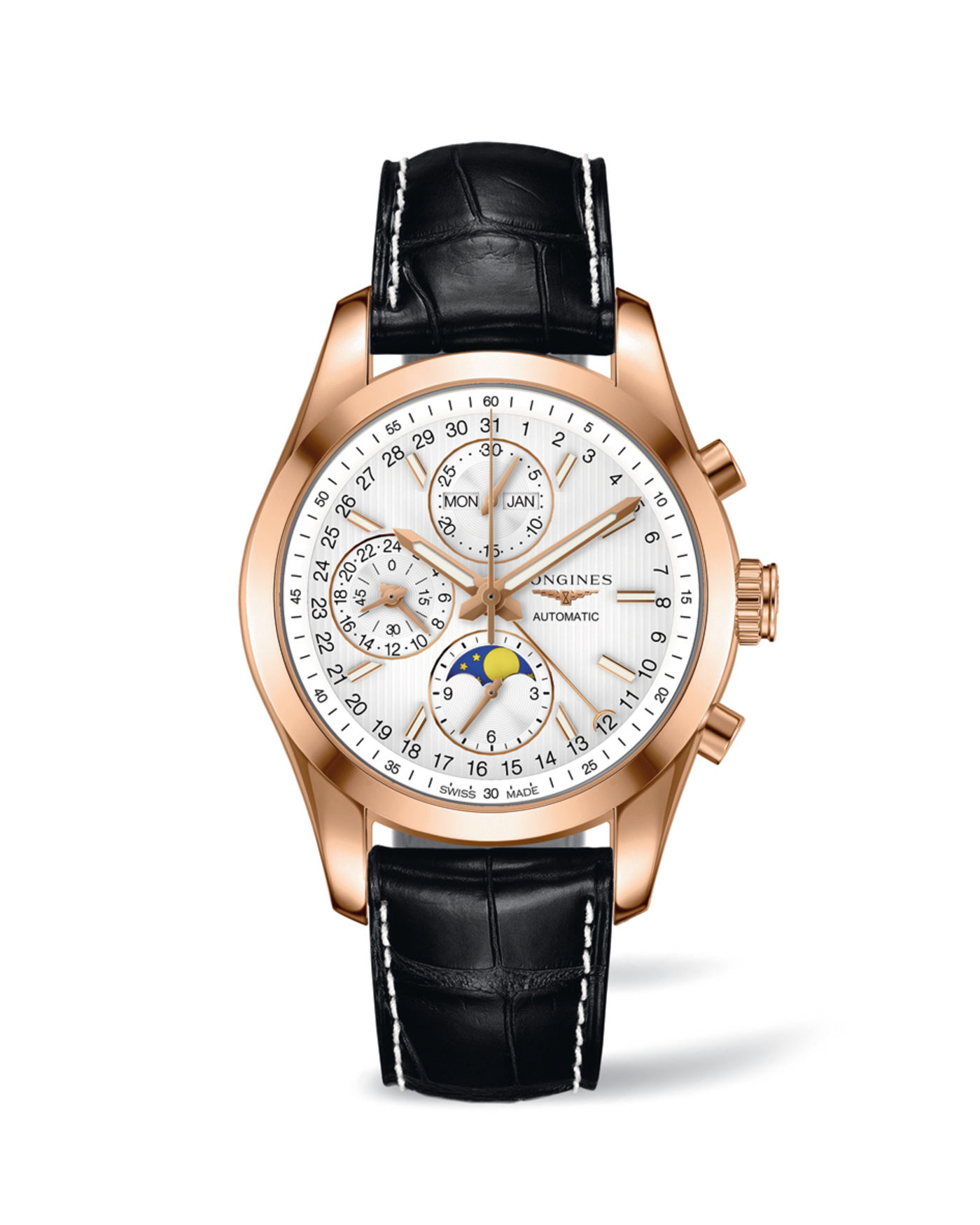 Longines Conquest Classic Moonphase Watch 4