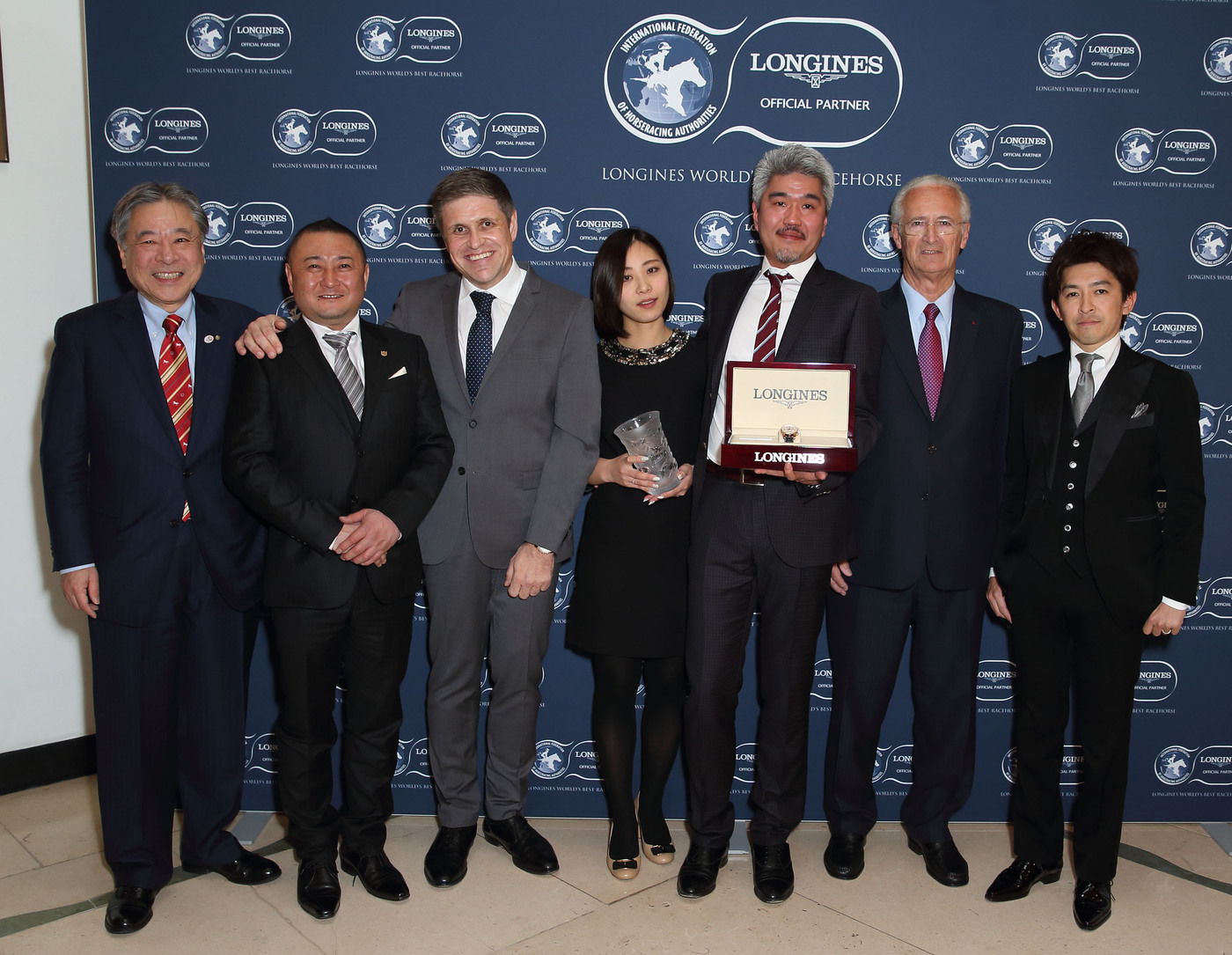 Longines Flat Racing Event: Just A Way honoured as the 2014 Longines World's Best Racehorse  1