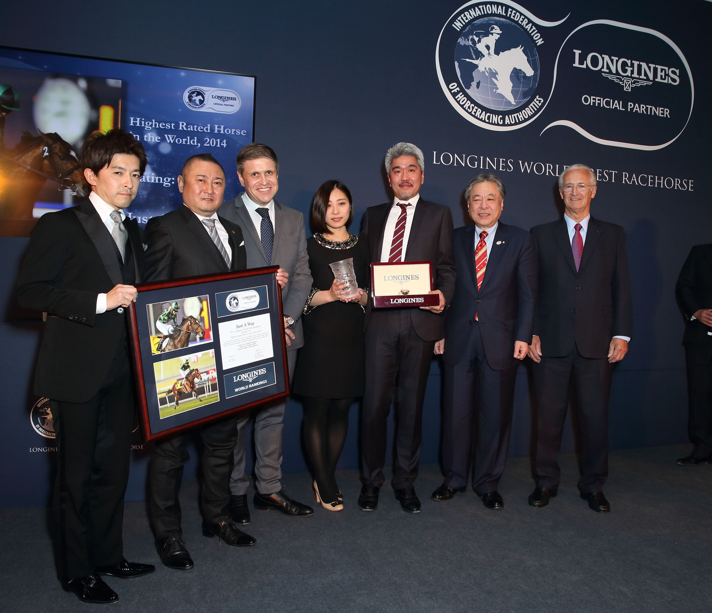 Longines Flat Racing Event: Just A Way honoured as the 2014 Longines World's Best Racehorse  2