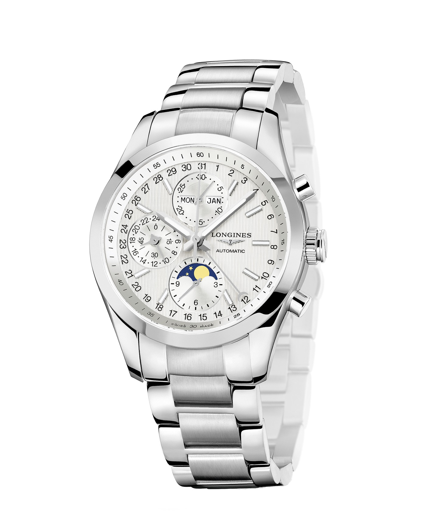 Longines Conquest Classic Moonphase Watch 7