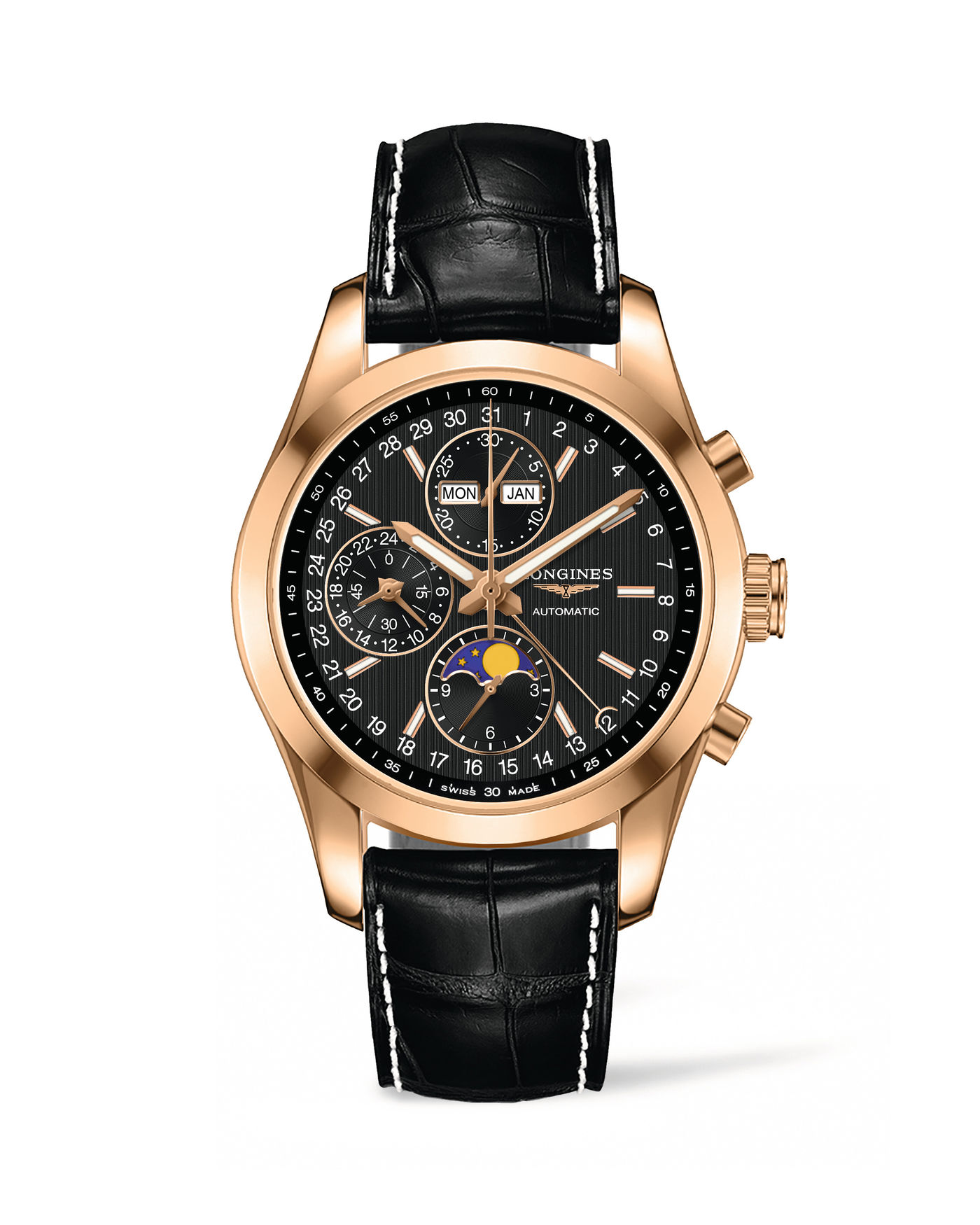 Longines Conquest Classic Moonphase Watch 9