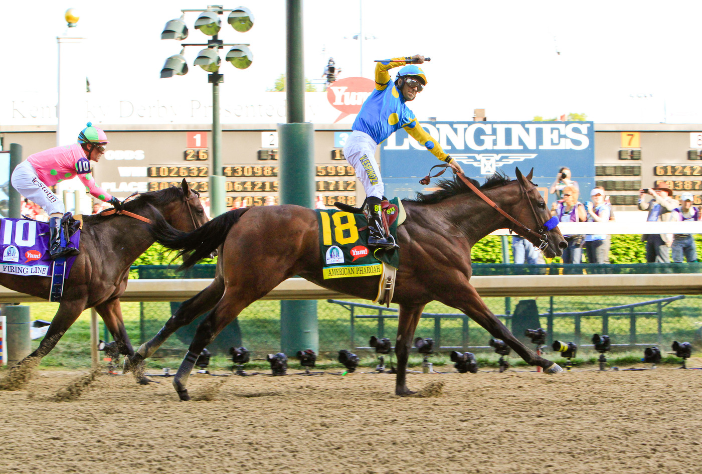 Longines Flat Racing Event: American Pharoah gallops to victory in front of record crowd at the 141st Kentucky Derby  1