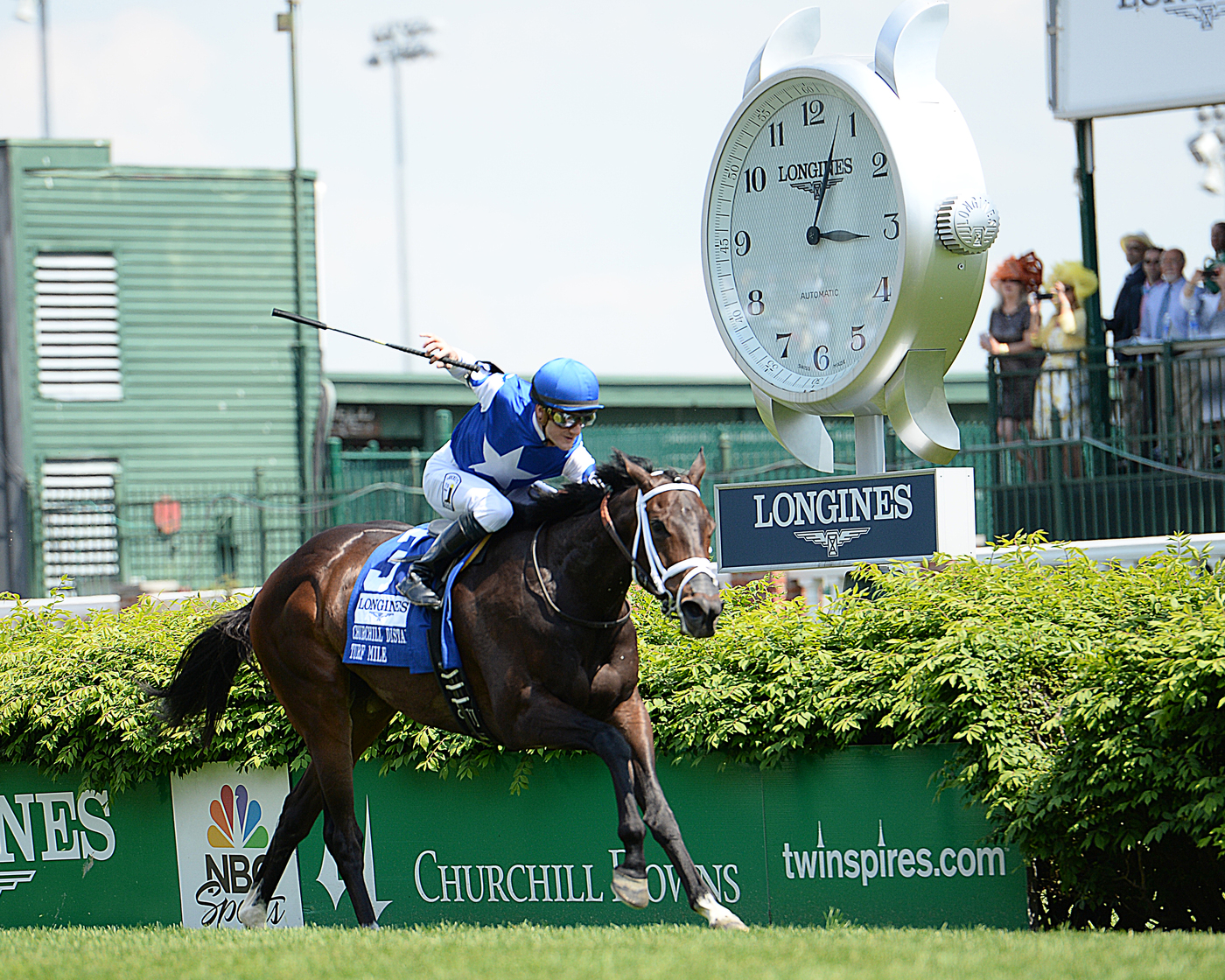 Longines Flat Racing Event: American Pharoah gallops to victory in front of record crowd at the 141st Kentucky Derby  2