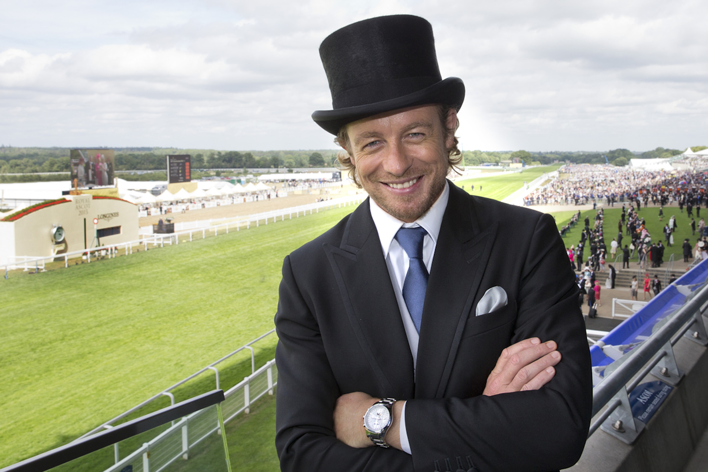 Longines Flat Racing Event: Longines Ambassador of Elegance Simon Baker at Royal Ascot for a very British Day at the Races  6