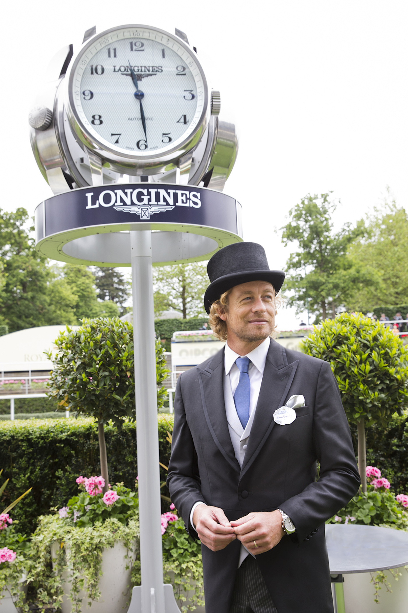 Longines Flat Racing Event: Longines Ambassador of Elegance Simon Baker at Royal Ascot for a very British Day at the Races  8
