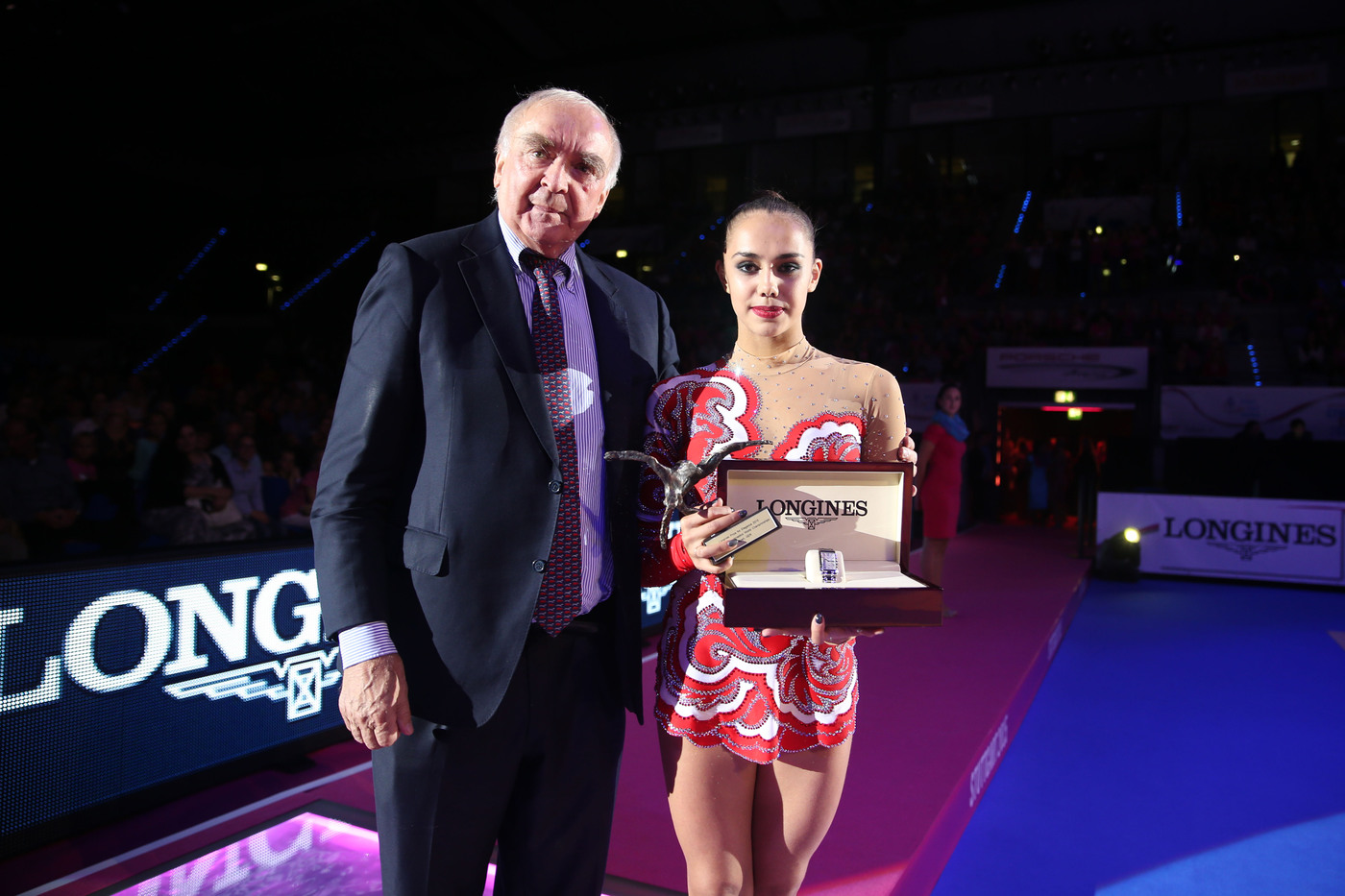 Longines Gymnastics Event: Margarita Mamun awarded with the Longines Prize for Elegance at the 34th Rhythmic Gymnastics World Championships 2015 2