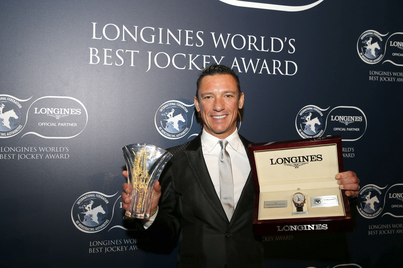 "Longines Flat Racing Event: Lanfranco ""Frankie"" Dettori honoured at the second Longines World's Best Jockey Award ceremony 6"
