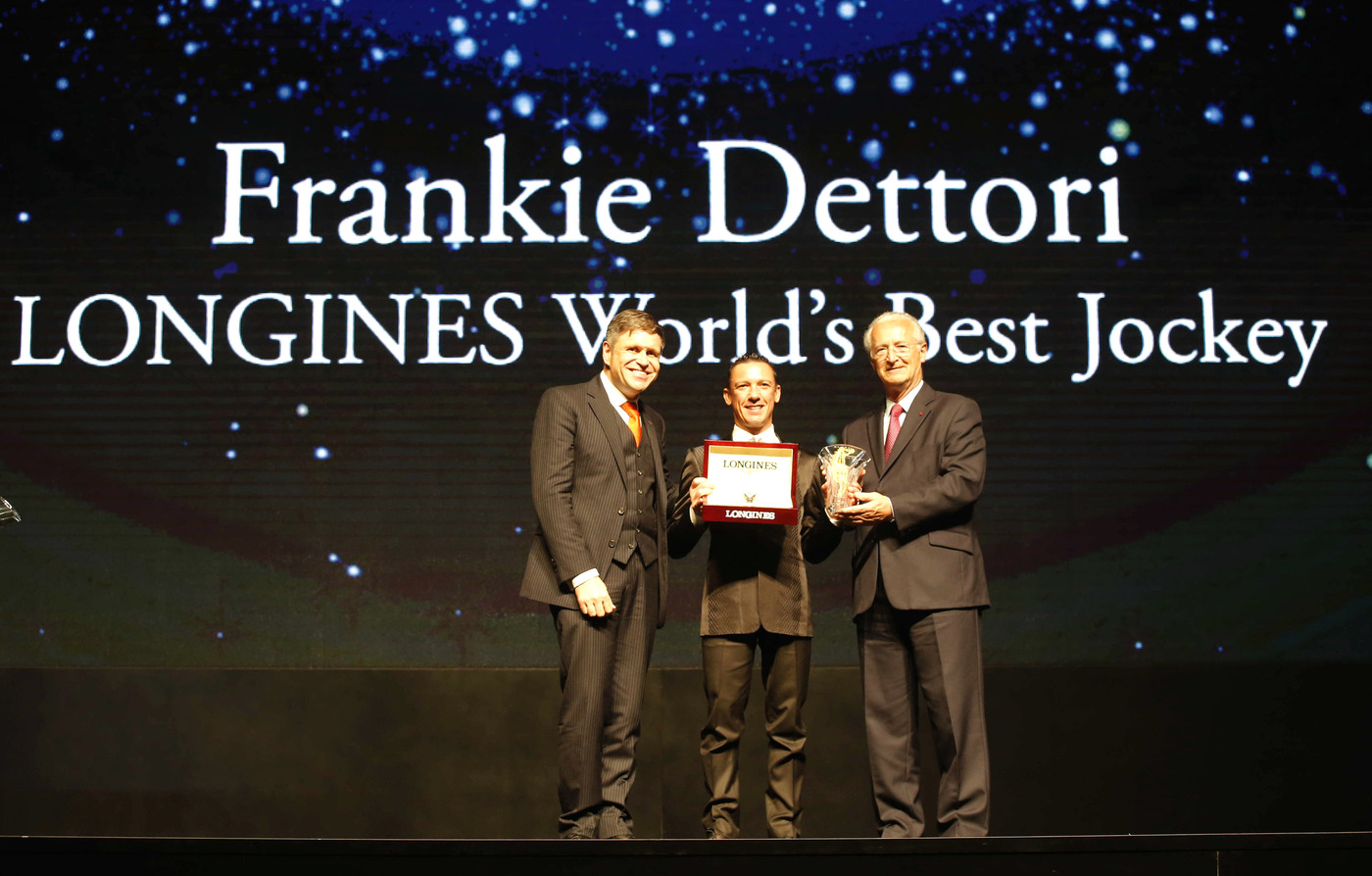 "Longines Flat Racing Event: Lanfranco ""Frankie"" Dettori honoured at the second Longines World's Best Jockey Award ceremony 7"