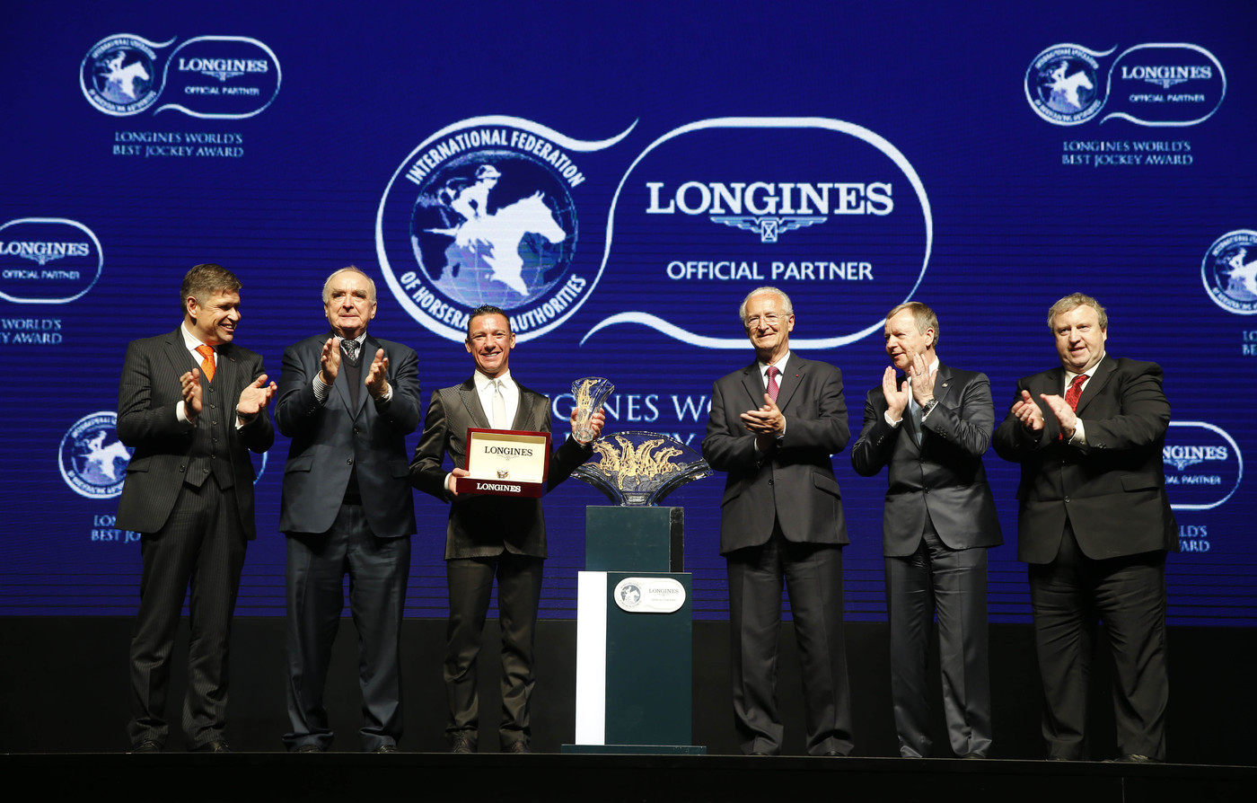 "Longines Flat Racing Event: Lanfranco ""Frankie"" Dettori honoured at the second Longines World's Best Jockey Award ceremony 9"