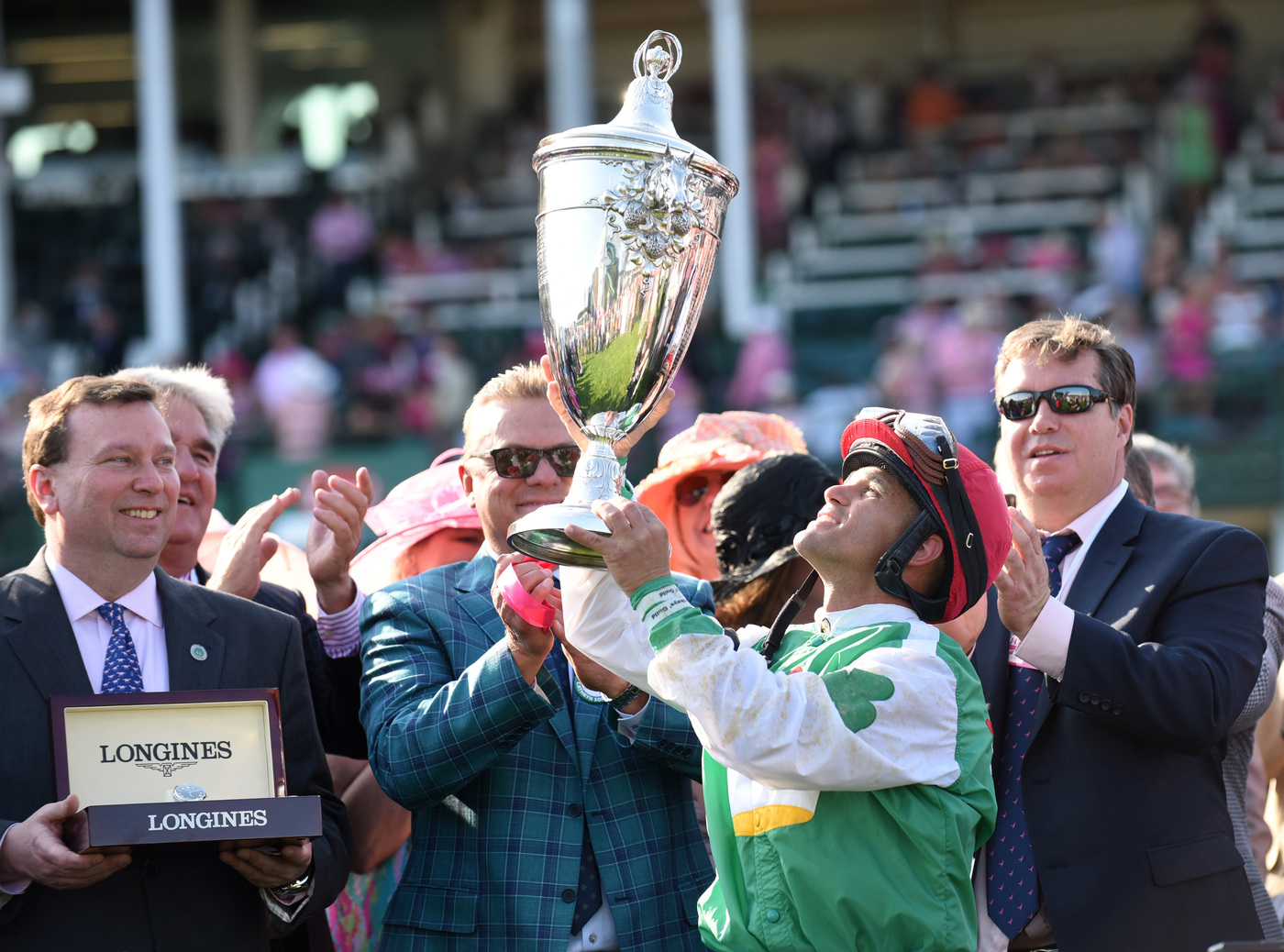 Longines Flat Racing Event: Winner of the 2016 Longines Kentucky Oaks Race Celebrated by Swiss Watch Brand Longines in front of record crowd 5