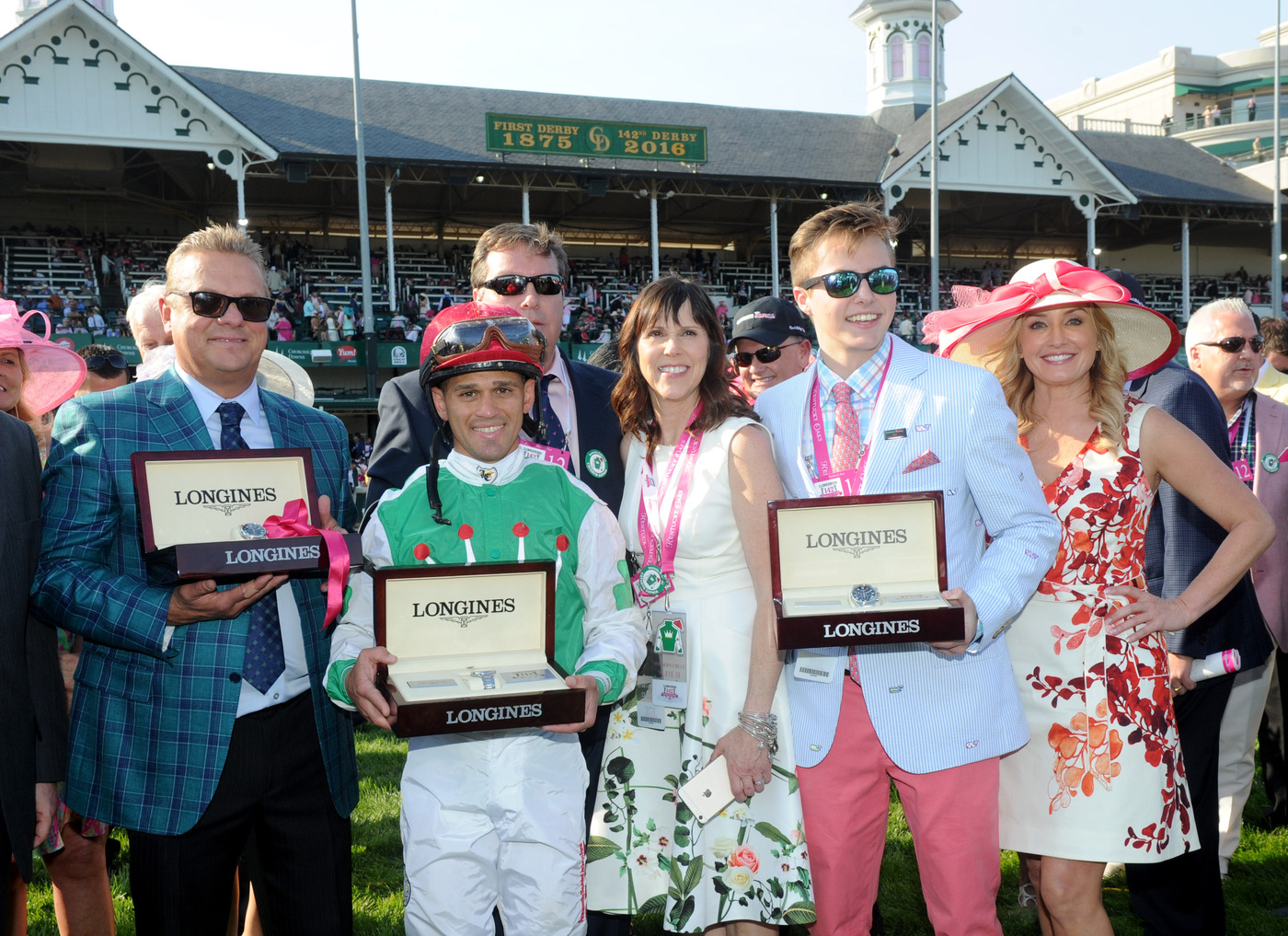 Longines Flat Racing Event: Winner of the 2016 Longines Kentucky Oaks Race Celebrated by Swiss Watch Brand Longines in front of record crowd 6