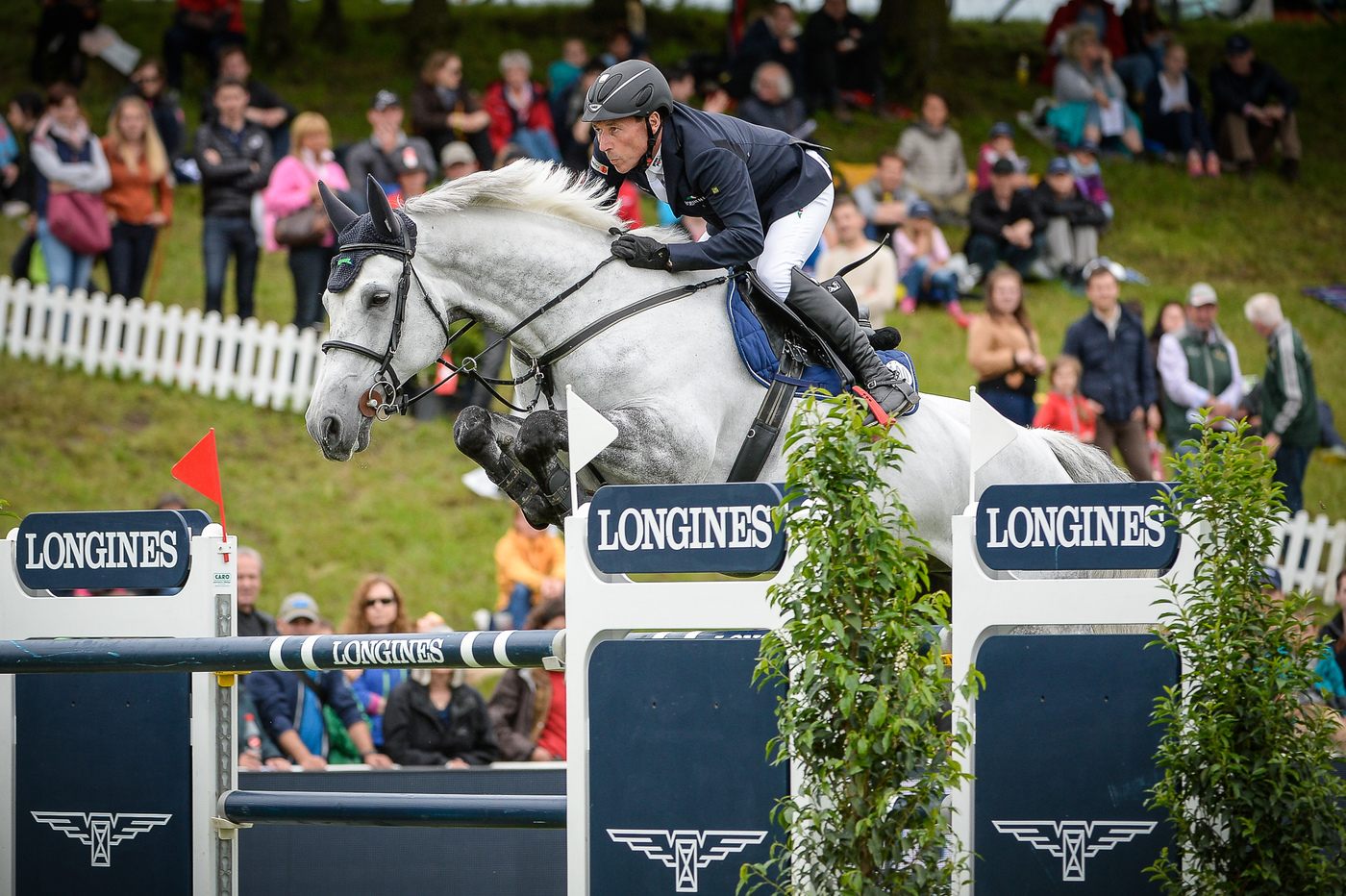 "Longines Show Jumping Event: Hans-Dieter Dreher (GER) is the winner of the ""Longines Grand Prix der Schweiz"" in St. Gallen 6"