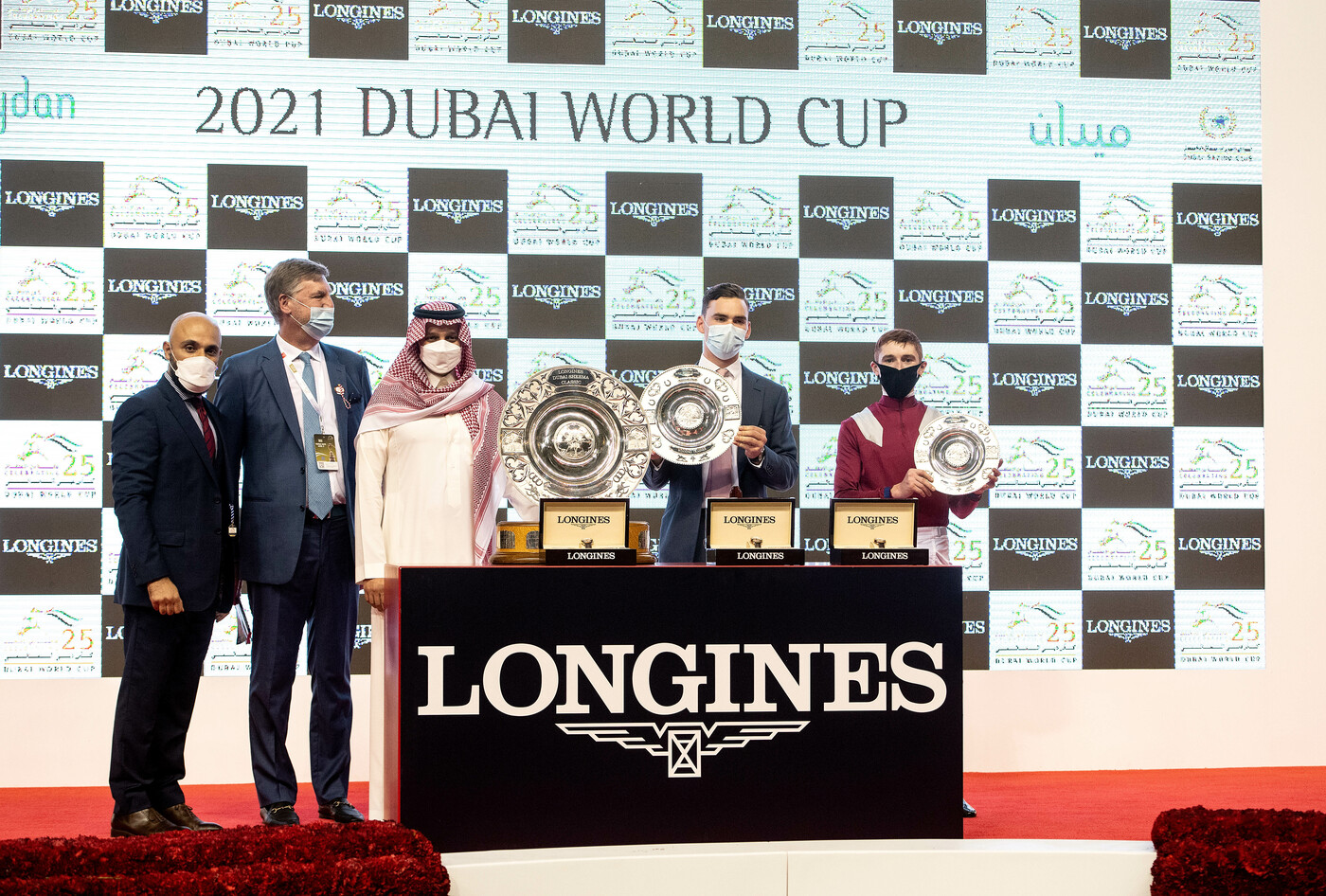Longines Flat Racing Event: Longines times the victory of Mystic Guide in the 25th Dubai World Cup 1
