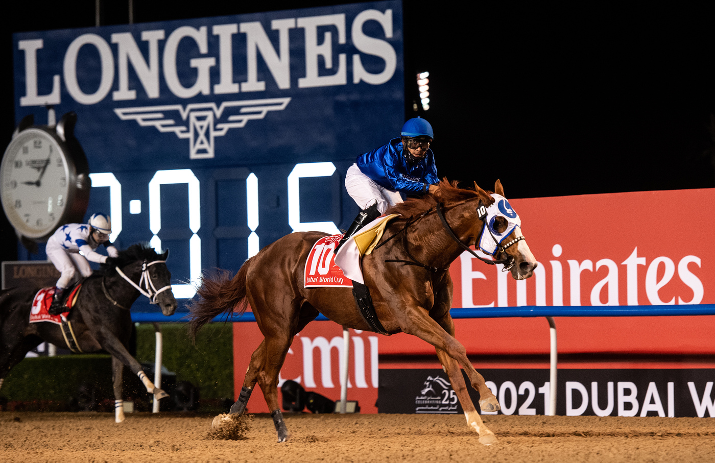 Longines Flat Racing Event: Longines times the victory of Mystic Guide in the 25th Dubai World Cup 2