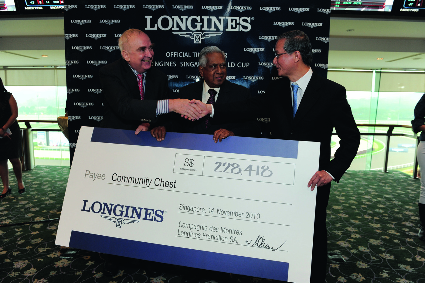 Longines Flat Racing Event: Longines embarks on landmark partnership with the Singapore Turf Club and launches the Longines Singapore Gold Cup 3