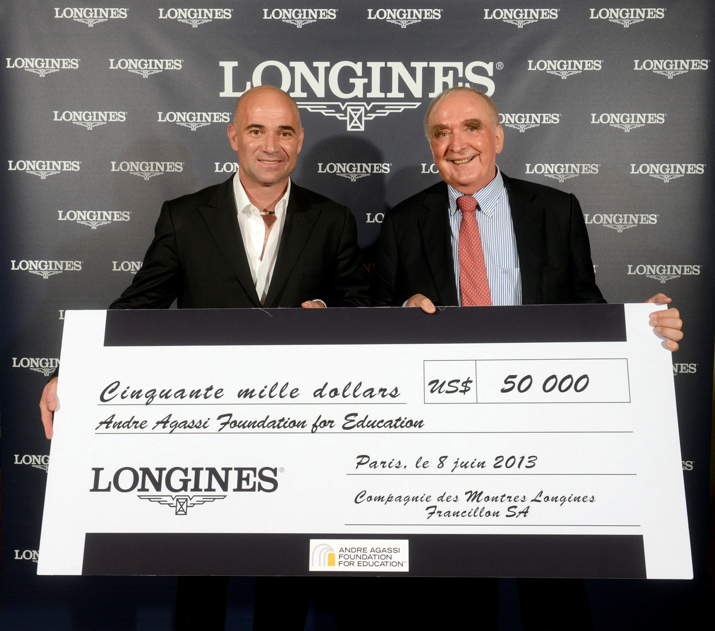 Longines Corporate Event: Longines Ambassador of Elegance Andre Agassi in Paris this weekend 2