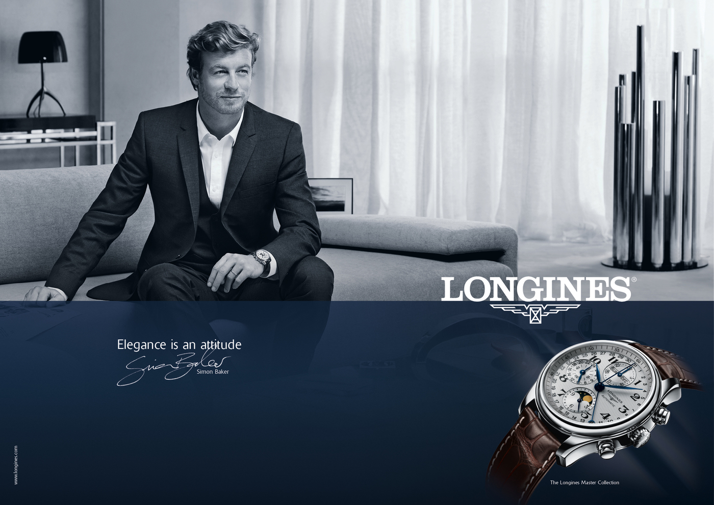 Longines Corporate Event: Simon Baker is the epitome of elegance in the new Longines advertising campaign 6