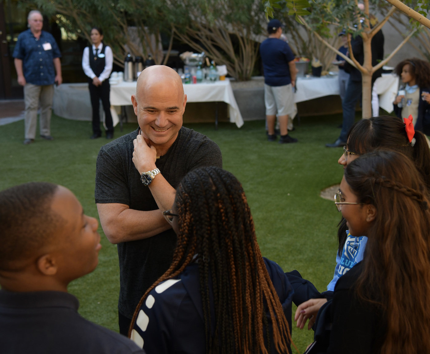 Longines Corporate Event: Longines Ambassador of Elegance Andre Agassi opens the doors of his campus in Las Vegas to generous donors 3