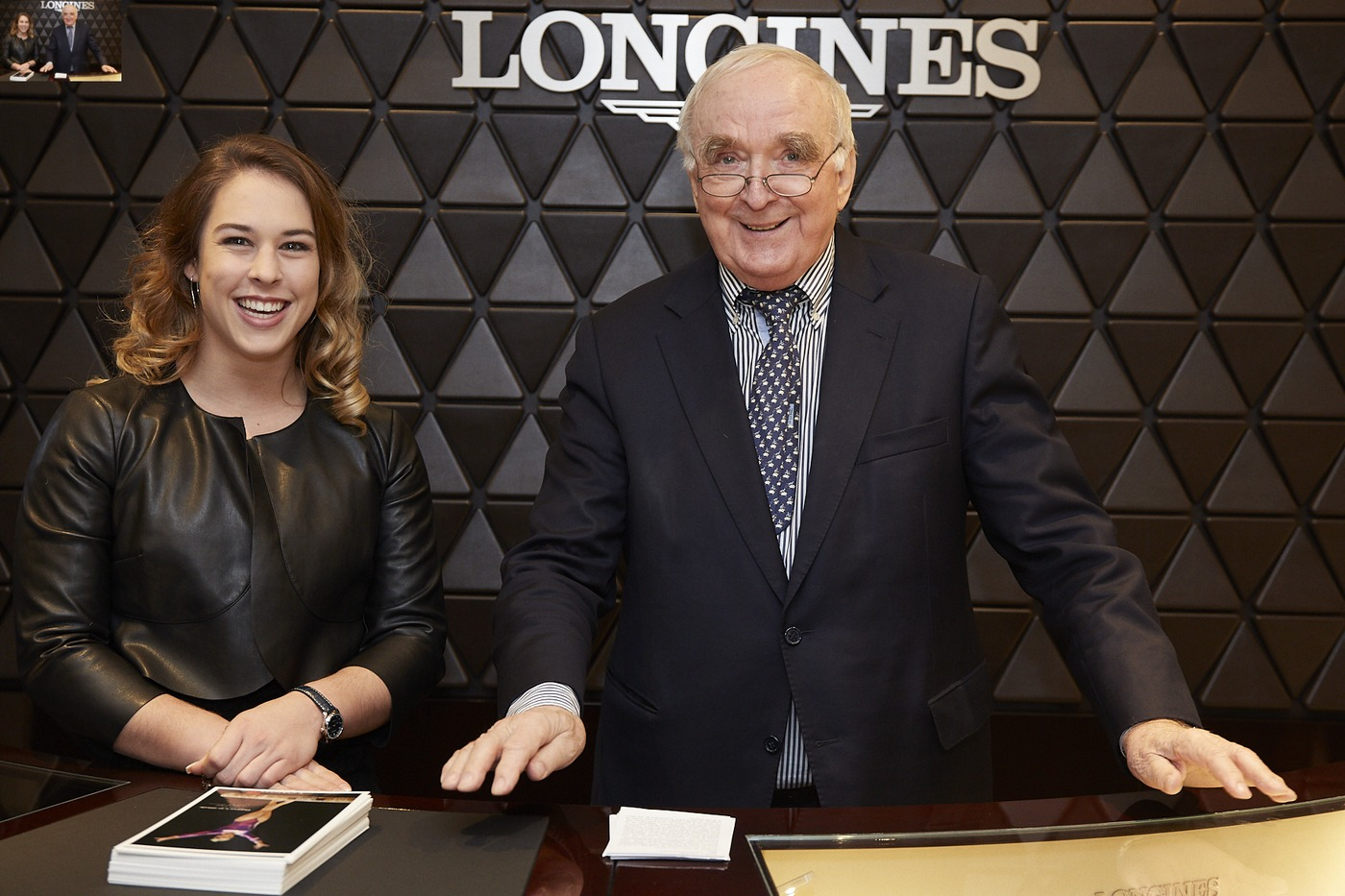 Longines Corporate Event: Longines officially inaugurates its first Corporate Boutique in Switzerland in presence of Giulia Steingruber, Ambassador of Elegance 2