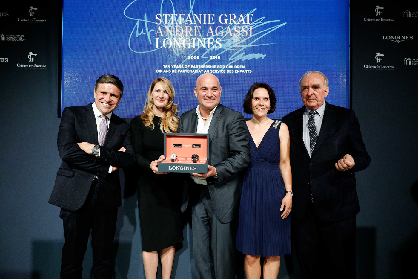 Longines Corporate Event: Longines unveils two exclusive Conquest V.H.P. models to mark ten years of its partnership with  Stefanie Graf and Andre Agassi 6