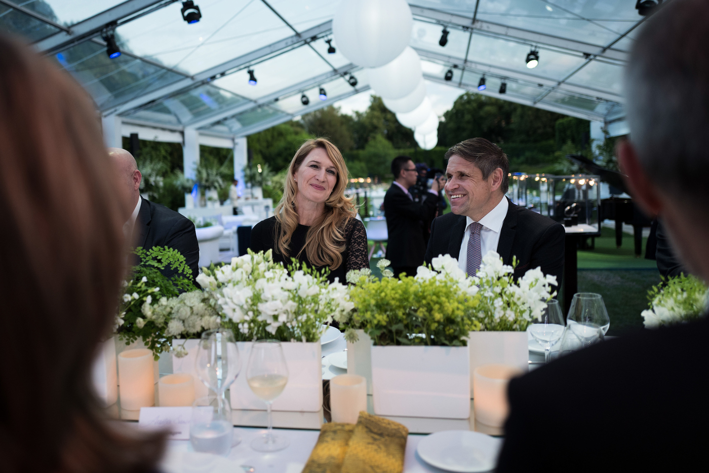 Longines Corporate Event: Longines unveils two exclusive Conquest V.H.P. models to mark ten years of its partnership with  Stefanie Graf and Andre Agassi 11