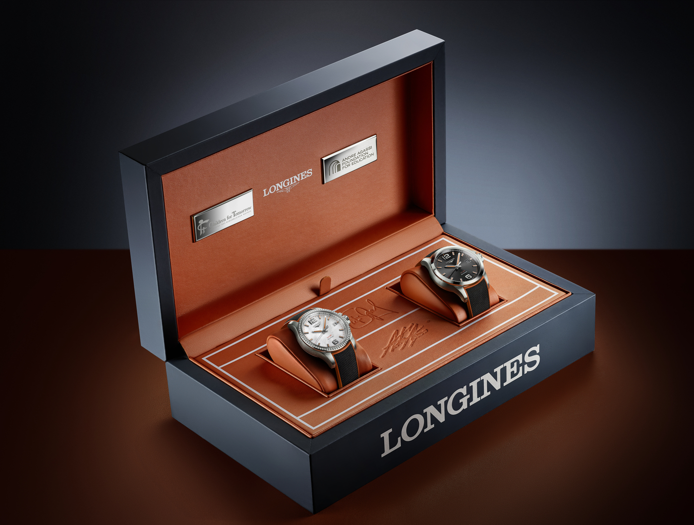 Longines Corporate Event: Longines unveils two exclusive Conquest V.H.P. models to mark ten years of its partnership with  Stefanie Graf and Andre Agassi 2