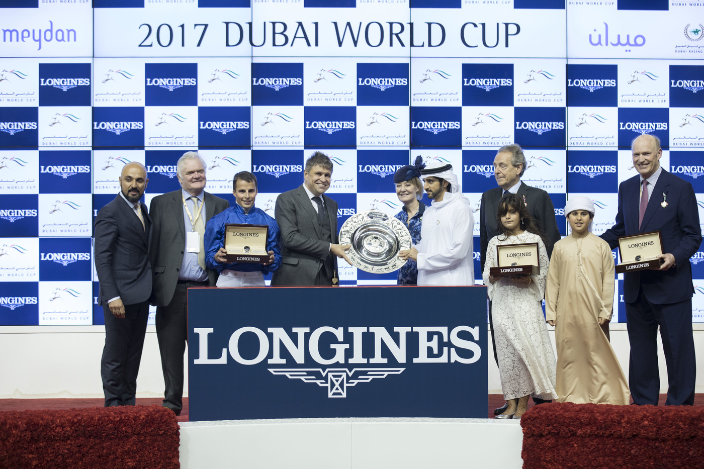 Longines Flat Racing Event: Arrogate, the 2016 Longines World's Best Racehorse, won the Dubai World Cup 7