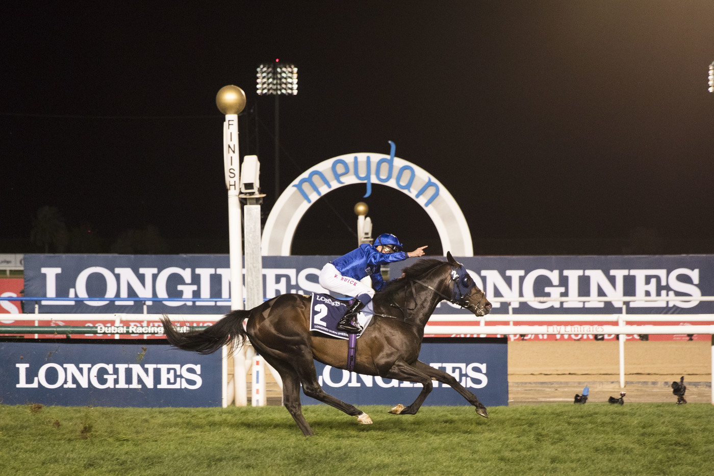 Longines Flat Racing Event: Arrogate, the 2016 Longines World's Best Racehorse, won the Dubai World Cup 1