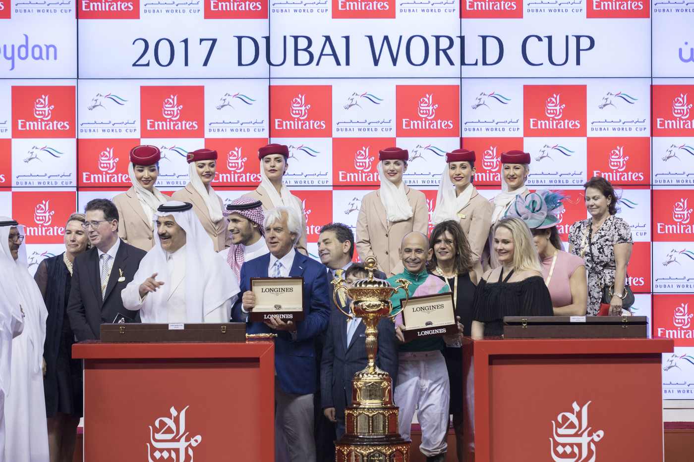 Longines Flat Racing Event: Arrogate, the 2016 Longines World's Best Racehorse, won the Dubai World Cup 4
